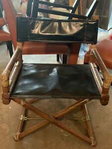 Mcguire Director S Chair Oak Brass Leather Bamboo California Casual X Support