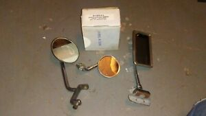 Pair Of Vintage Side Rear View Mirrors 1932 Ford Old Hot Rat Rod Accessory