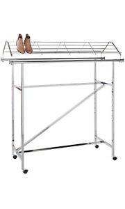 Chrome Shoe Topper For Double rail Clothing Rack 57 2 5 w X 21 d X 11 h