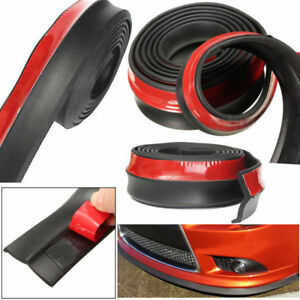 2 5m Car Front Bumper Lip Spoiler Universal Splitter Skirt Rubber Protector Body