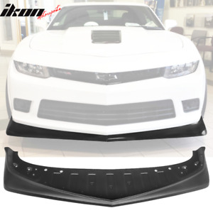 Fits 14 15 Chevy Camaro Z28 Style Front Bumper Lip Carbon Fiber Textured Look
