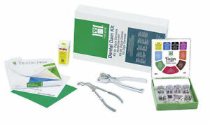 New Dental Hygenic Rubber Dam Winged Complete Kit Coltene Free Shipping