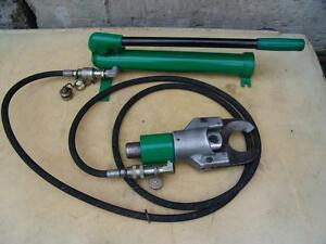 Greenlee 750 751 m2 Hydraulic Cable Cutter With Greenlee Hand Pum P Great Shape