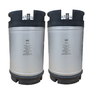 2 Pack New 3 Gallon Ball Lock Kegs Homebrew Beer Cold Brew Coffee Ship Free