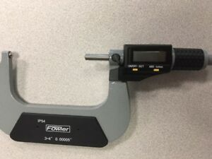 Fowler 3 4 75 100mm Electronic Ip54 Ball Anvil Spindle Micrometer 54 860 214