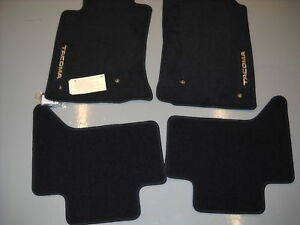 2005 2011 Toyota Tacoma Double Cab Carpet Floor Mats Black Oem Pt206 35102 15