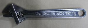 Snap On Usa 10 Adjustable Crescent Wrench Vintage Chrome Ad10 250mm