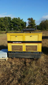 Olympian 17 5kw 3 phase Diesel Generator With Transfer Switch