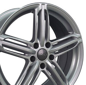 18x8 Rims Fit Audi Rs6 Style Silver Wheels Set