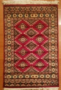 Jaldar Bokhara Prayer Size Handmade Area Rug Pure Virgin Wool 2x3