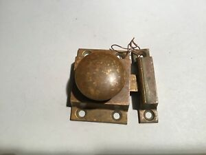 Super Nice Antique Brass Cupboard Or Door Latch