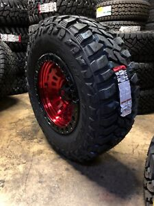 5 17 Fuel D632 Zephyr Red 35 Mxt Mt Wheel Tire Package 5x5 Jeep Wrangler Jk