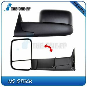 Updated Style 98 2001 Dodge Ram 1500 98 02 2500 3500 Power Heated Tow Mirrors