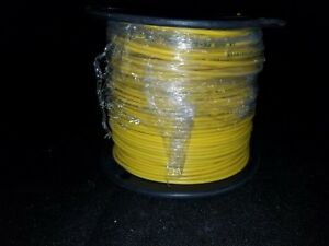 New 500 Ft Roll Yellow 14 Awg Solid Tracer Wire Direct Burial 30 Mil Pe