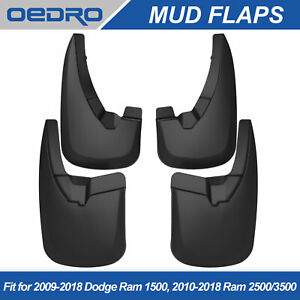 For 2009 2018 Dodge Ram 1500 2010 2018 Ram 2500 3500 Front Rear Mud Flaps