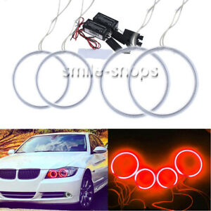 4x Red Angel Eye Halo Ring For Ford Mondeo Mk Iii 02 07 Ccfl Demon Devil Drl Kit