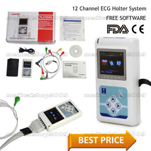 New Contec Tlc5000 12 lead Holter Ecg 24hour Monitor Sync Pc Software Analysis