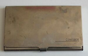 Vintage Concorde Metallic Name Business Card Holder