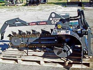 Skid Steer Trencher Attachment bradco 625 Fits All Skid Steers freebusiness Ship