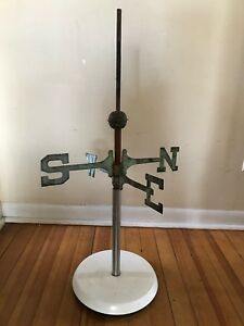 Antique Directionals N S E W Arrows Copper Ball Old Weathervane