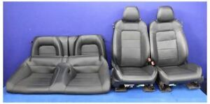 2015 2016 2017 Ford Mustang Gt Coupe Leather Bucket Front Rear Seats Hot Rod