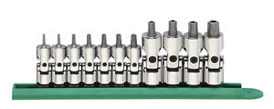 Gearwrench 81052 11 Piece Universal Stubby Tamper Proof Torx Bit Socket Set