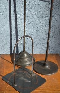 Antique Vintage Industrial Japanned Copper Flash Store Display Rack Shirt Stand