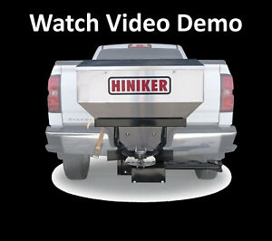 Hiniker 600 Tailgate Stainless Salt Spreader Sander 6cf 480 Lbs New Design