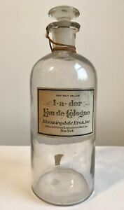 Antique Victorian Era Bloomingdale S Brothers Large Perfume Dramming Bottle Rare