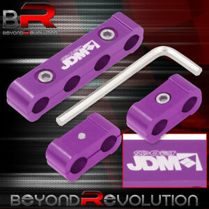 Spark Plug Wires Spacer Dividers Purple Cnc Aluminum Universal 4 Cylinder Engine