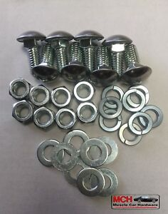 1964 66 Chevelle Front And Rear Bumper Bolts 32 Pieces