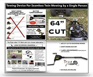 Utility Patent Sale Or 2 Licensing Fee Lawn Mower Attachment