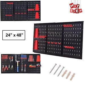 Pegboard Garage Tool Hanger Board Display Hook Pack Hanging Organizer Metal Shop