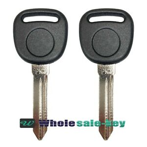 2 New Replacement Uncut Chip Transponder Ignition Car Keys For Gm B99pt Pk3