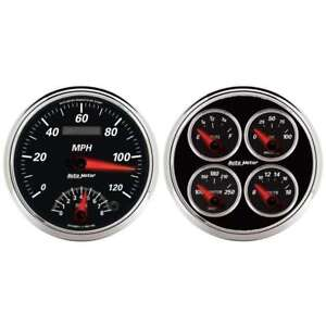 Autometer 1204 Designer Black Ii Analog Gauge Kit