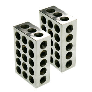 1 Pair 1 2 3 Block Set 0 0001 Precision Matched Mill Machinist 123 23 Holes