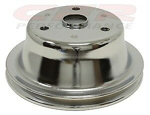1969 85 Chevy Small Block Chrome Steel Crankshaft Pulley Long 1 Groove