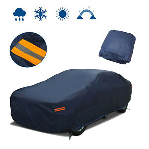Waterproof Breathable Full Car Cover Outdoor Sun Uv Snow Heat Rain Resistant