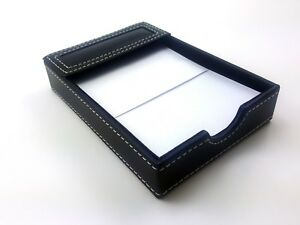 Nice Classic Black Memo Pad Holder 4 5 X 6 5 With Sheets Of Paper
