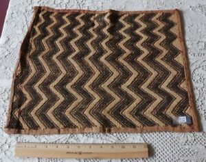 Antique African Congo Tribal Kuba Cloth Fabric Handwoven Ethnic Design 13 X18