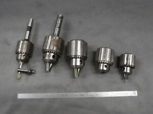 Drill Chuck Lot 5x Jacobs Usa 34 0 1 2 34 02 2a 33ba Unmarked 0 3 8