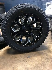 20x10 Fuel D546 Assault 33 At Xt Wheel Tire Package 5x5 Jeep Wrangler Jl Jk