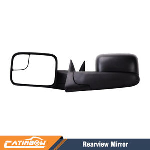 Left Right Manual Tow Flip Up Mirror For 94 02 Dodge Ram 1500 2500 3500 Pickup