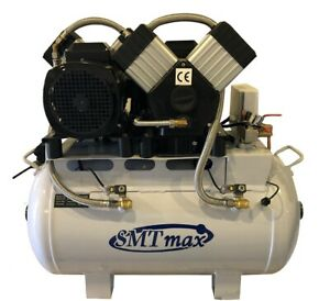 3 5 Hp 24 Gallon Oil Free Noiseless Dental Air Compressor 220v