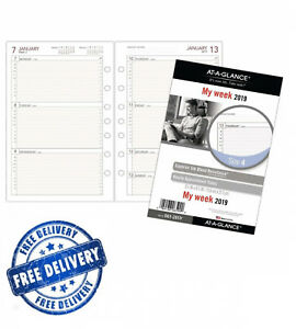 5 1 2 X 8 1 2 2019 Weekly Planner Refill Day Runner 5 1 2 X 8 1 2 Desk Size