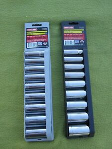 Craftsman Usa 18 Pc 3 8 Drive Metric Sae Deep Socket Set 12 Point 34558 9
