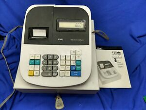 Royal 435dx Electronic Cash Register With Key And Manual