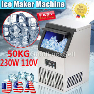 Usa 110lb Built in Commercial Ice Maker Undercounter Freestand Ice Cube Machine