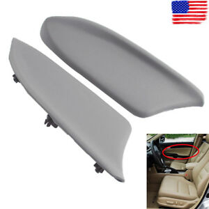 Gray Pu Leather Front Lr Door Panel Armrest Cover For Honda Accord 08 12 Sedan