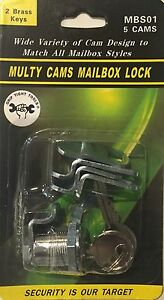 Lot Of 12 5 Cams Mailbox Lock mbs01